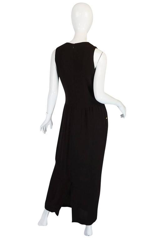 Chic 1990s Chanel Woven Silk Crepe Sleeveless Dress 2