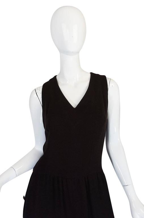 Chic 1990s Chanel Woven Silk Crepe Sleeveless Dress 4