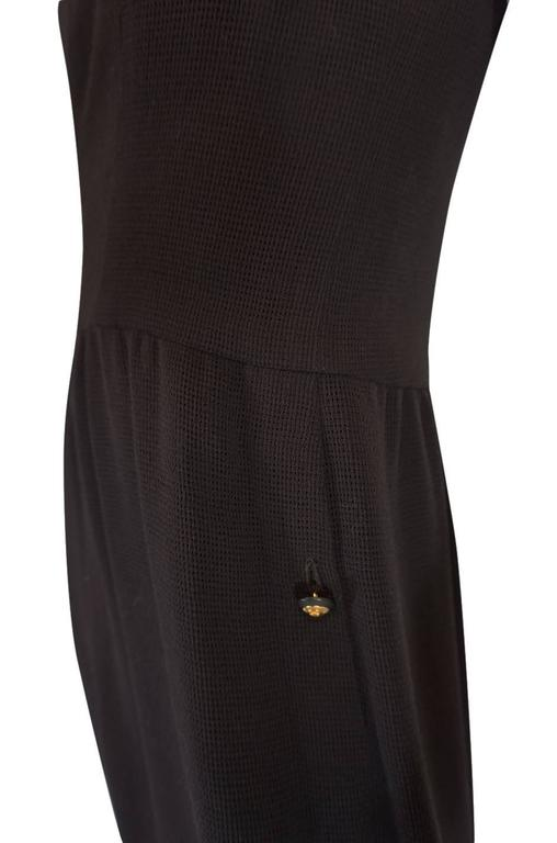 Chic 1990s Chanel Woven Silk Crepe Sleeveless Dress 6