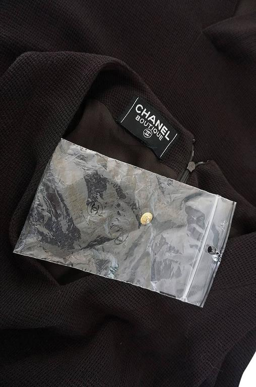 Chic 1990s Chanel Woven Silk Crepe Sleeveless Dress 9