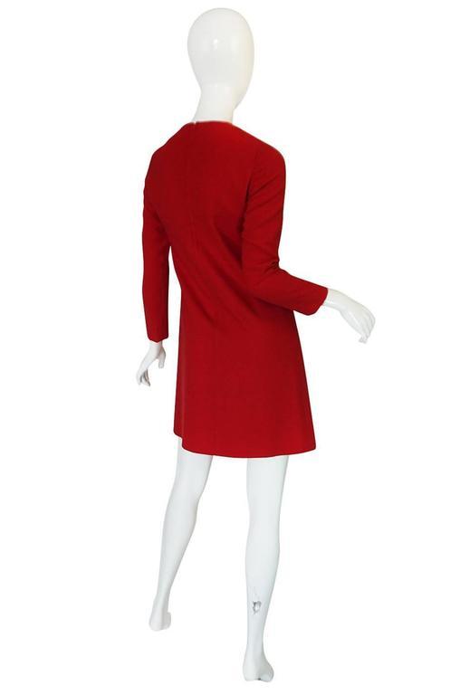 1960s Pierre Cardin for Takashimaya Red Loop Dress 2
