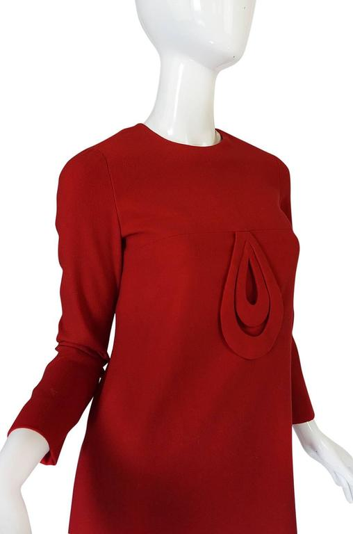 1960s Pierre Cardin for Takashimaya Red Loop Dress 7