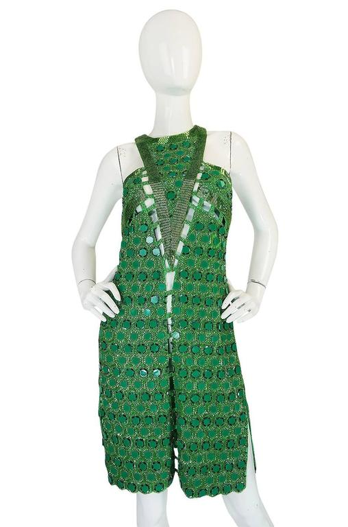 OOAK 2015 Peter Dundas for Pucci Beaded Press Sample Dress In Excellent Condition For Sale In Toronto, ON