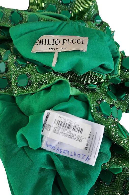OOAK 2015 Peter Dundas for Pucci Beaded Press Sample Dress For Sale 4