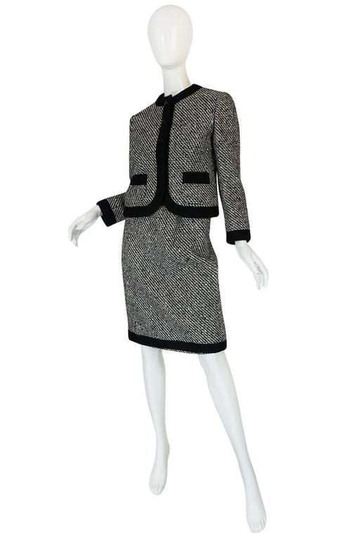 Black Documented 1968 Marc Bohan for Christian Dior Suit For Sale