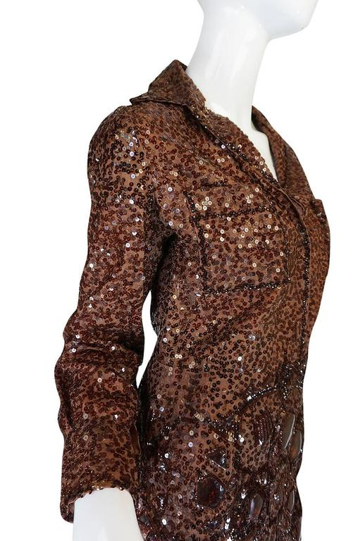 c.1966 Christian Dior Sequin & Tortoise Shell Demi-Couture Dress 6