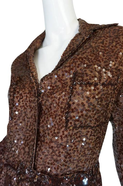 c.1966 Christian Dior Sequin & Tortoise Shell Demi-Couture Dress 7