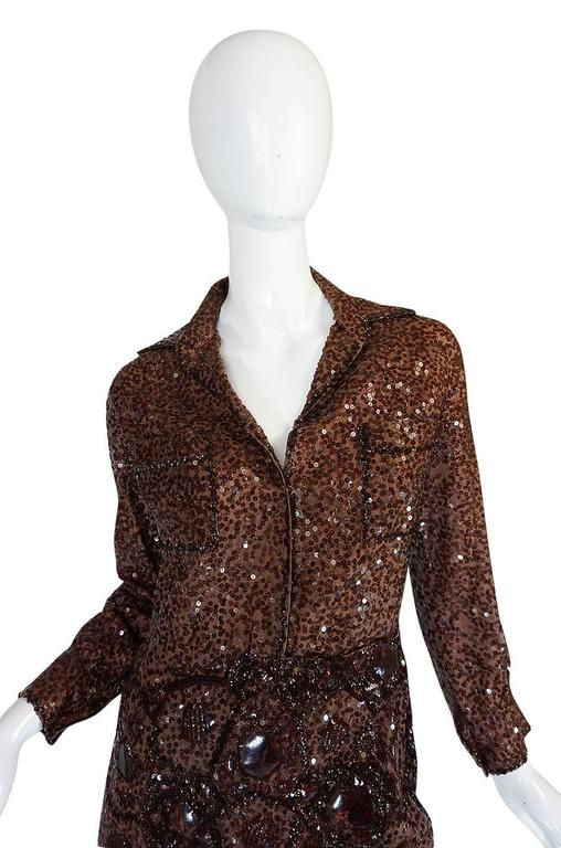 c.1966 Christian Dior Sequin & Tortoise Shell Demi-Couture Dress 5