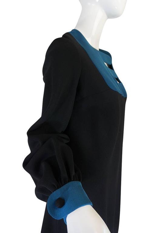 c1967 Pierre Cardin Demi-Couture Cut Out Neckline Dress 6