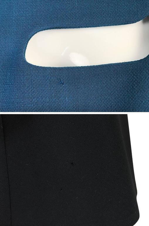 c1967 Pierre Cardin Demi-Couture Cut Out Neckline Dress 8