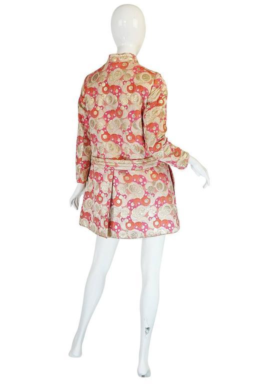 1960s Pink Metallic Pat Sandler Dress & Coat 2