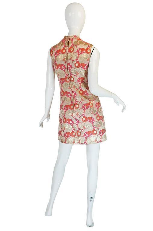 Women's 1960s Pink Metallic Pat Sandler Dress & Coat For Sale
