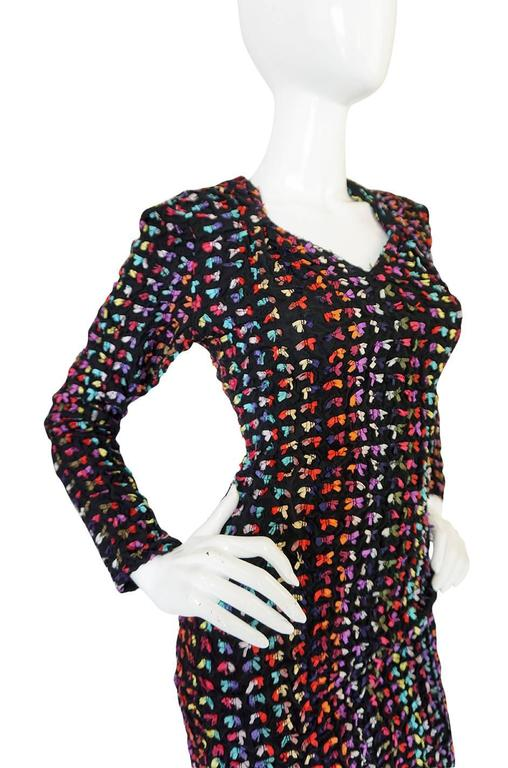Runway F/W 1988-89 Patrick Kelly Multi Color Bow Dress For Sale 1
