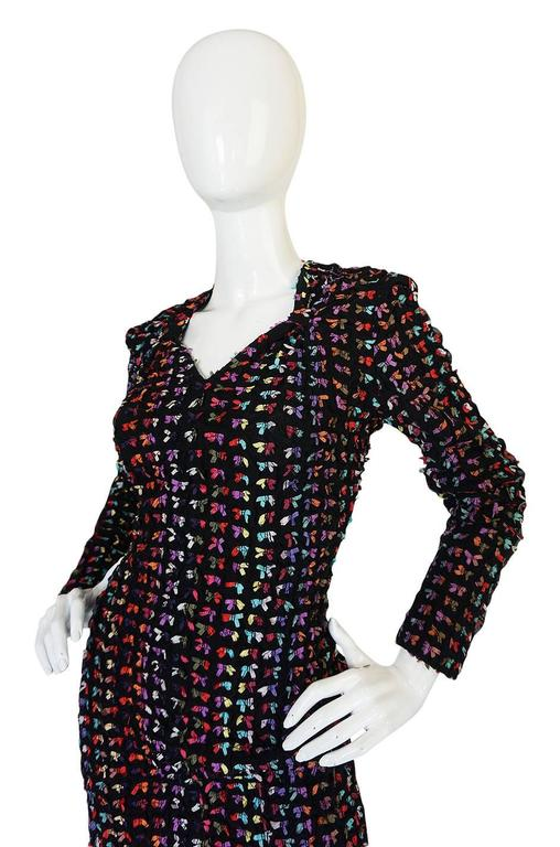 Women's Runway F/W 1988-89 Patrick Kelly Multi Color Bow Dress For Sale