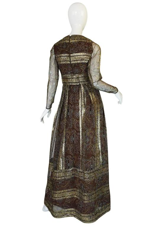 1970s Marc Bohan for Christian Dior Demi-Couture Metallic Dress 2