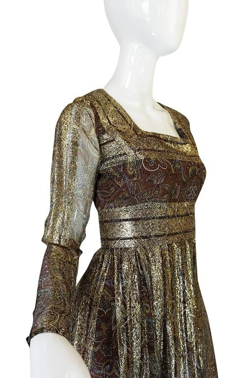 1970s Marc Bohan for Christian Dior Demi-Couture Metallic Dress 7