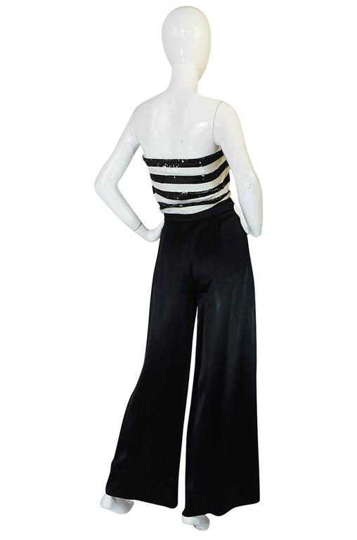 Yves Saint Laurent was the master of making simple pieces into something luxurious and fine and here we have a fabulous example that is the very definition of that aesthetic. The 1966 Haute Couture collection featured sequin striped pieces and this