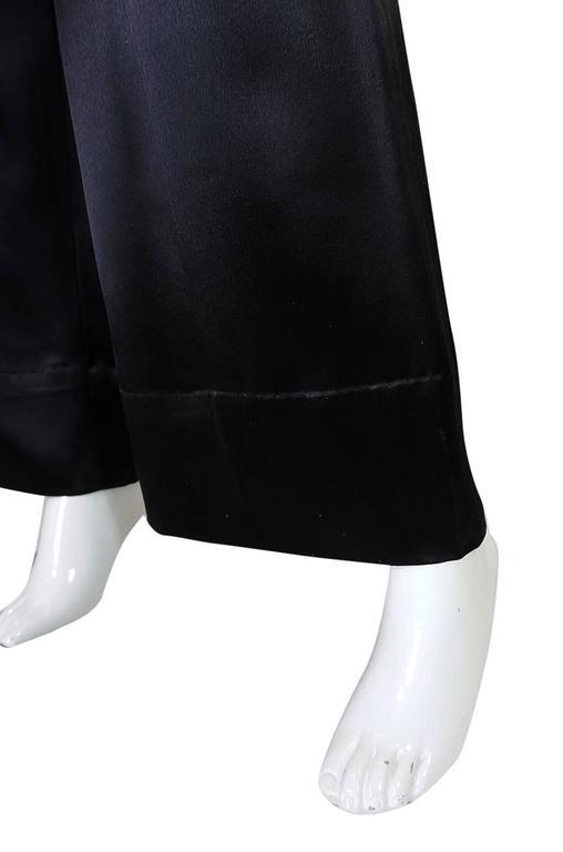 c1966 Yves Saint Laurent Sequin Stripe Top & Satin Pant 7