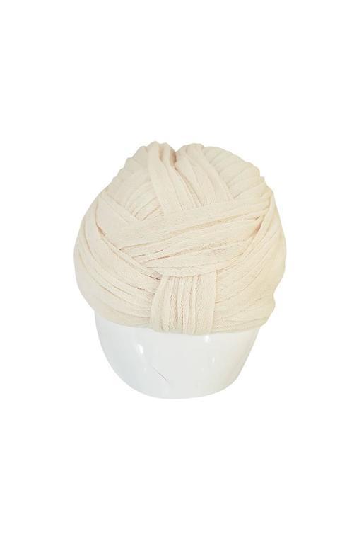 Vintage Renata Originals Cream Gauze Turban Hat 2