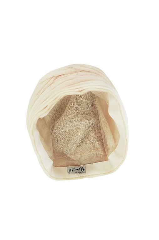 Vintage Renata Originals Cream Gauze Turban Hat 6