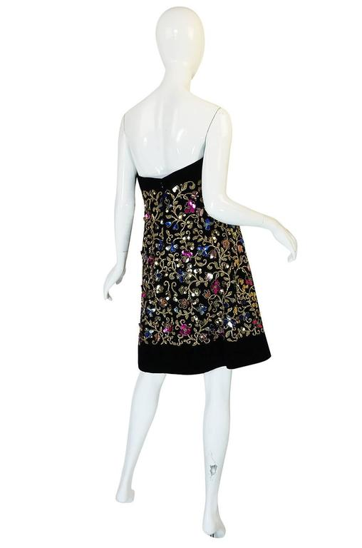 1960s Arnold Scaasi Couture Metallic Applique Dress Set In Excellent Condition For Sale In Toronto, CA