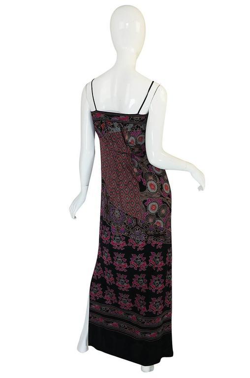 1970s Leonard Silk Jersey Dress & Silk Chiffon Cape Set 4