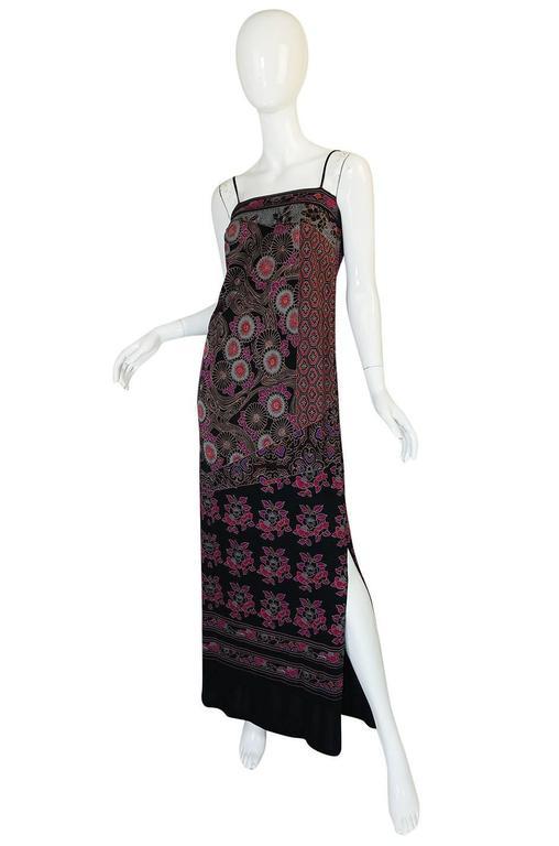 1970s Leonard Silk Jersey Dress & Silk Chiffon Cape Set 6