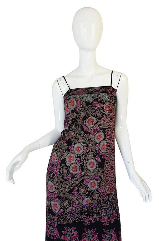 1970s Leonard Silk Jersey Dress & Silk Chiffon Cape Set 8