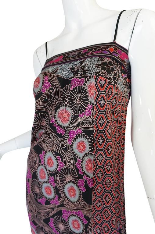 1970s Leonard Silk Jersey Dress & Silk Chiffon Cape Set 9