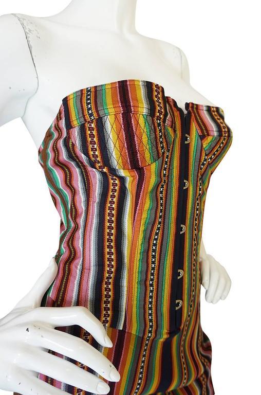 S/S 2002 Galliano for Christian Dior Striped Corset Dress 5