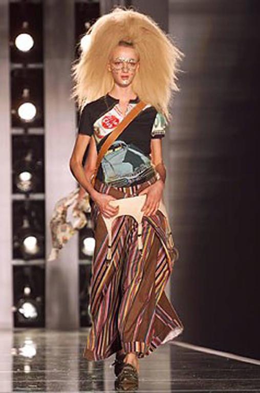 S/S 2002 Galliano for Christian Dior Striped Corset Dress 10