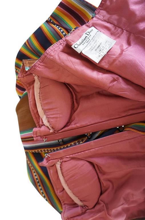 S/S 2002 Galliano for Christian Dior Striped Corset Dress 9