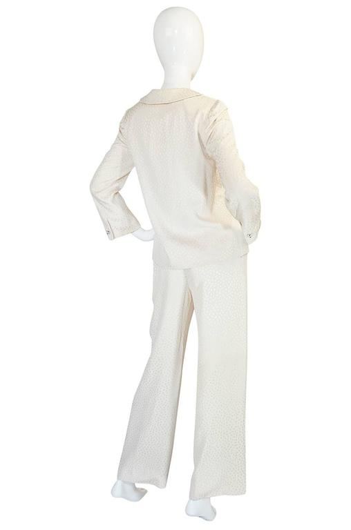 Fall 1977 Christian Dior Haute Couture Cream Silk Suit 2