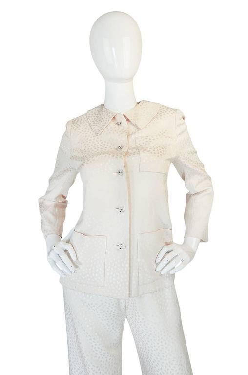 Fall 1977 Christian Dior Haute Couture Cream Silk Suit 3