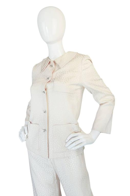 Fall 1977 Christian Dior Haute Couture Cream Silk Suit 4