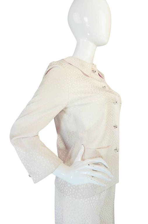 Fall 1977 Christian Dior Haute Couture Cream Silk Suit 5