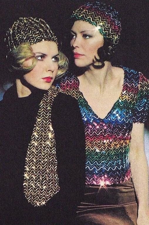 c1973 Biba Blue and Pink Sequin Vest Top 7