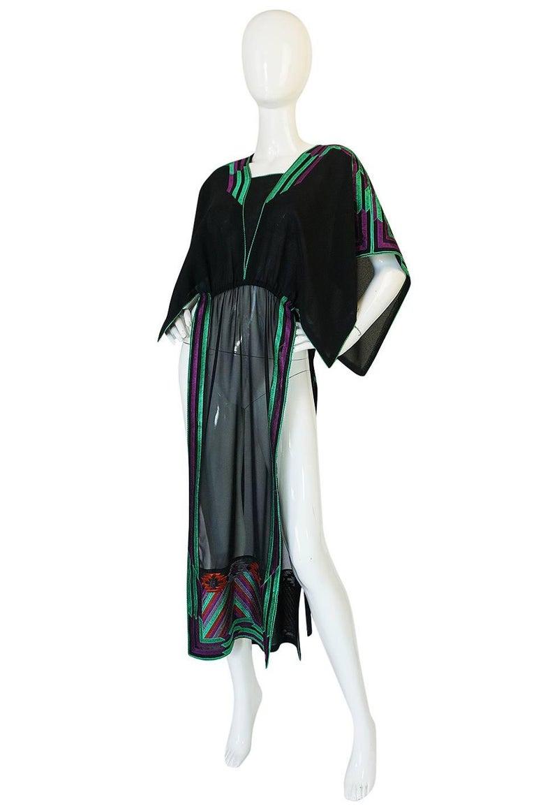 c1970-74 Janice Wainwright Embroidered Caftan Tabard & Skirt Set 3