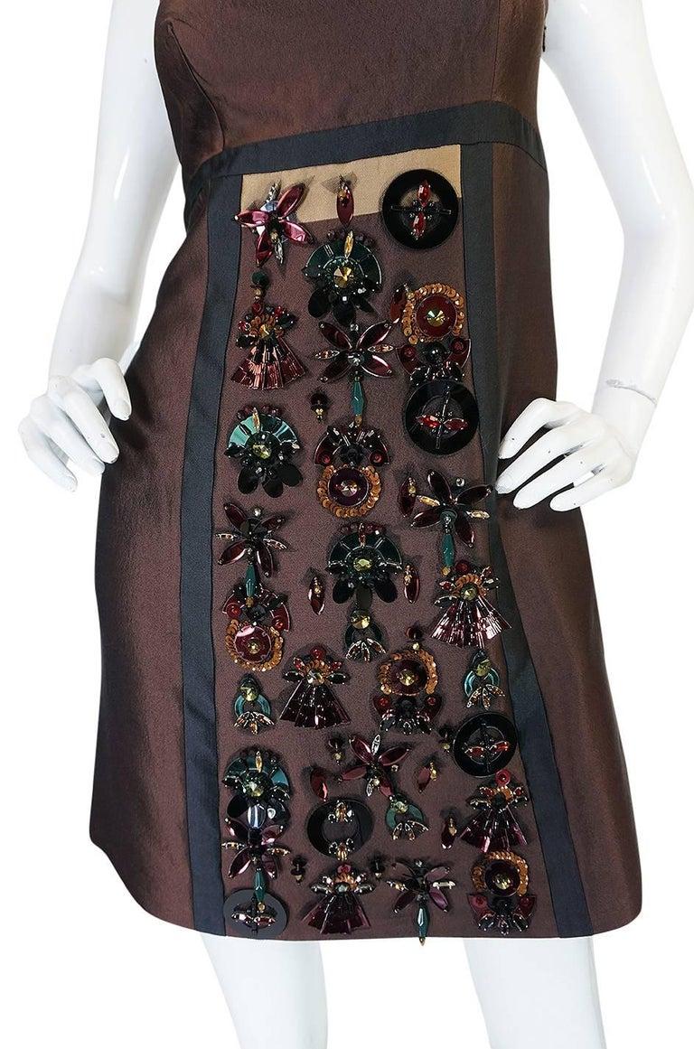 S/S 2005 Prada Look 48 One Shoulder Jeweled Embellished Dress 8