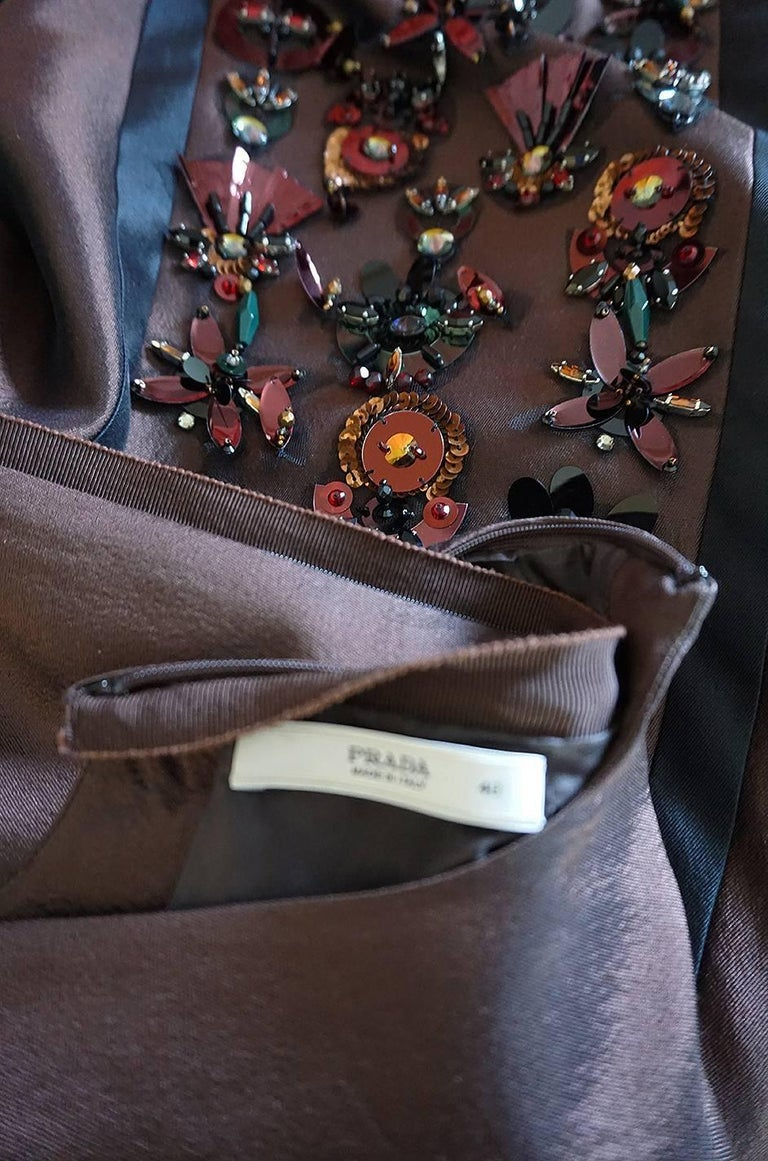 S/S 2005 Prada Look 48 One Shoulder Jeweled Embellished Dress 9