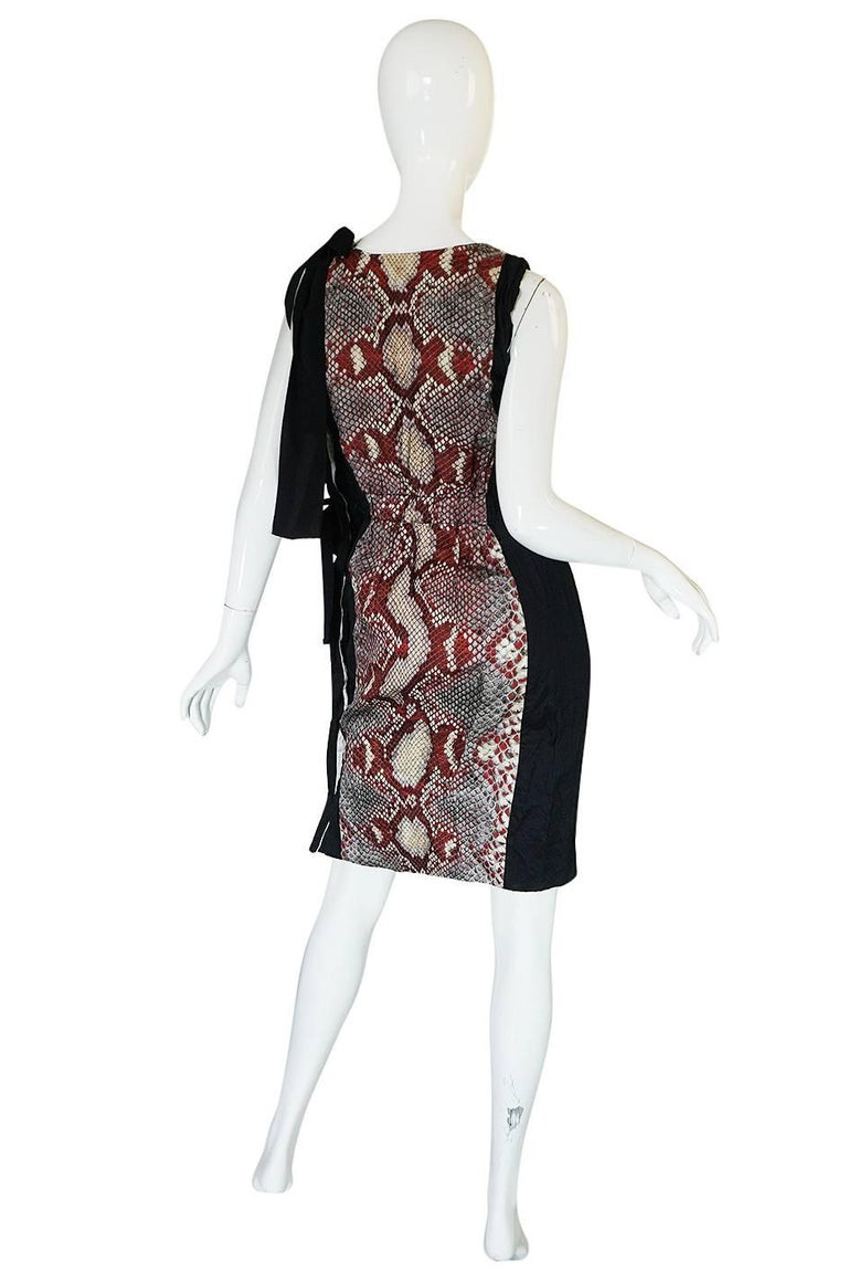 S/S 2009 Prada Runway Snakeskin Print Open Side Dress 2