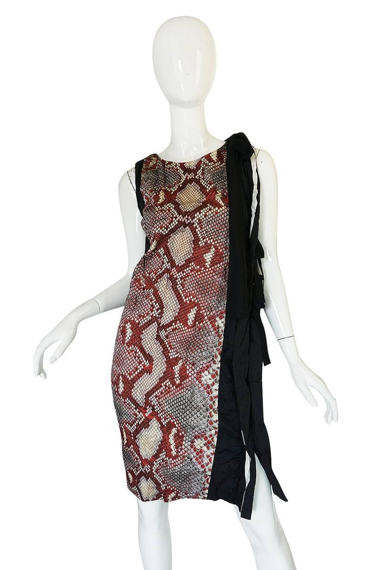 S/S 2009 Prada Runway Snakeskin Print Open Side Dress 3