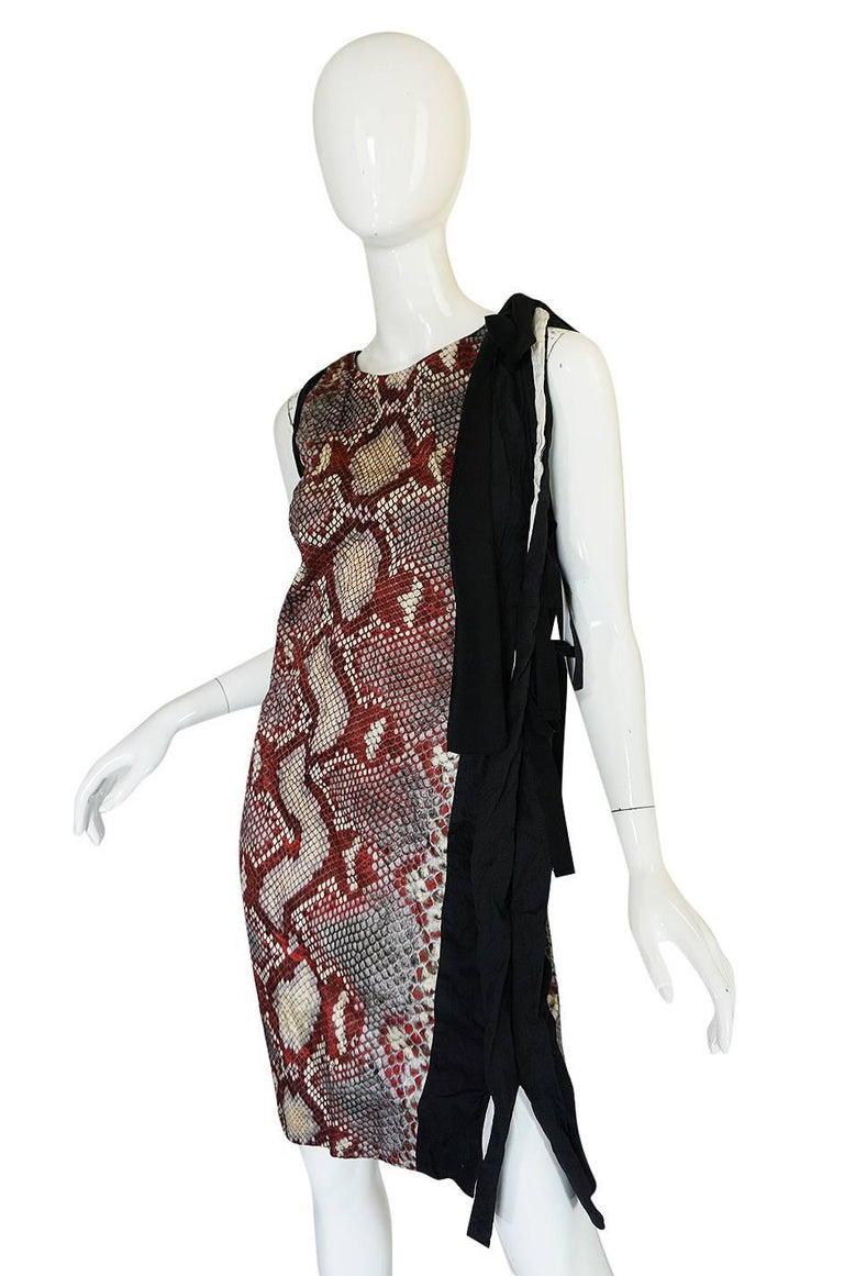 S/S 2009 Prada Runway Snakeskin Print Open Side Dress 4