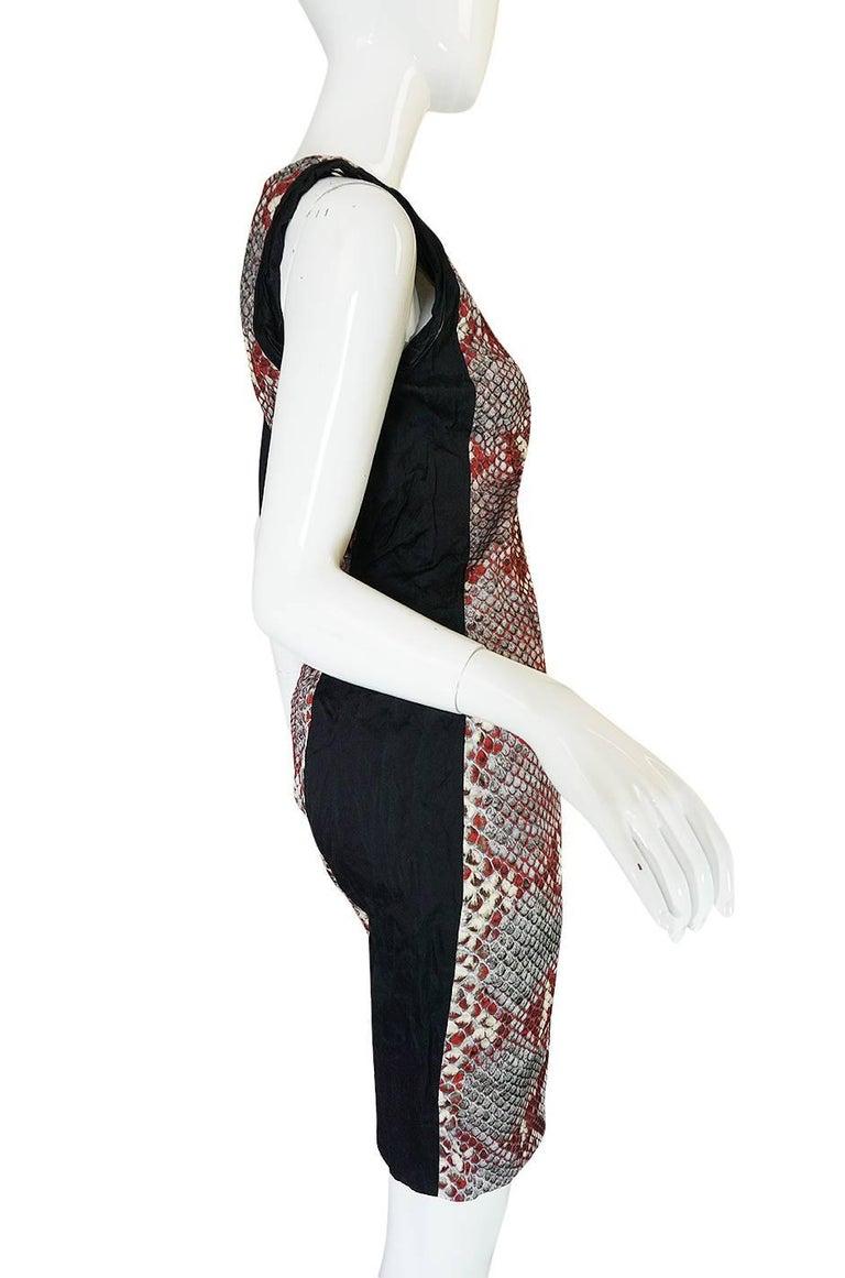 S/S 2009 Prada Runway Snakeskin Print Open Side Dress 5
