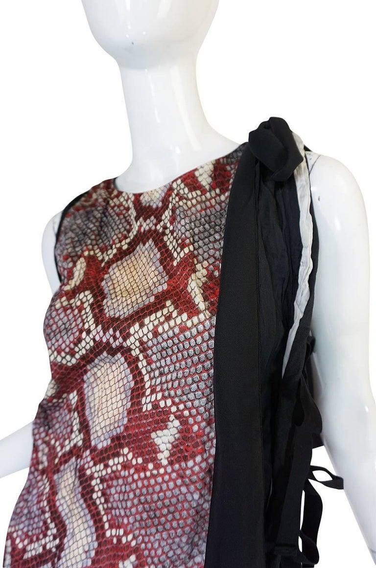 S/S 2009 Prada Runway Snakeskin Print Open Side Dress 6