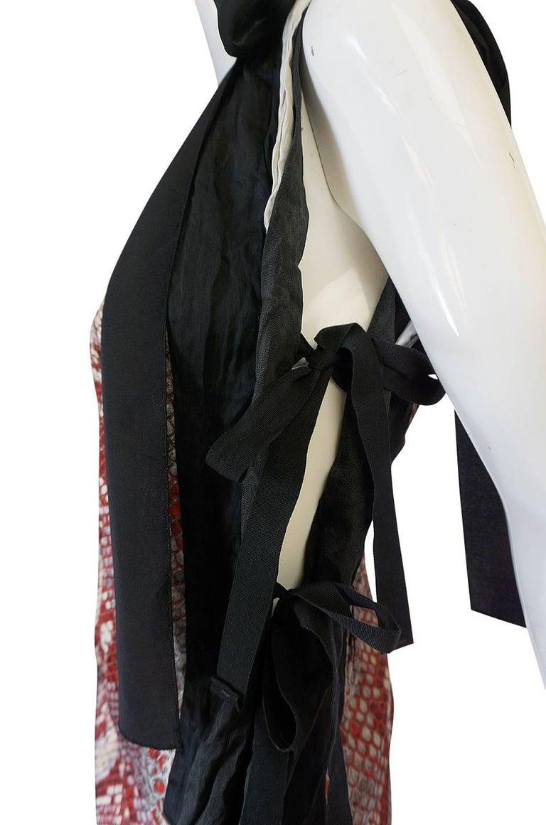 S/S 2009 Prada Runway Snakeskin Print Open Side Dress 7