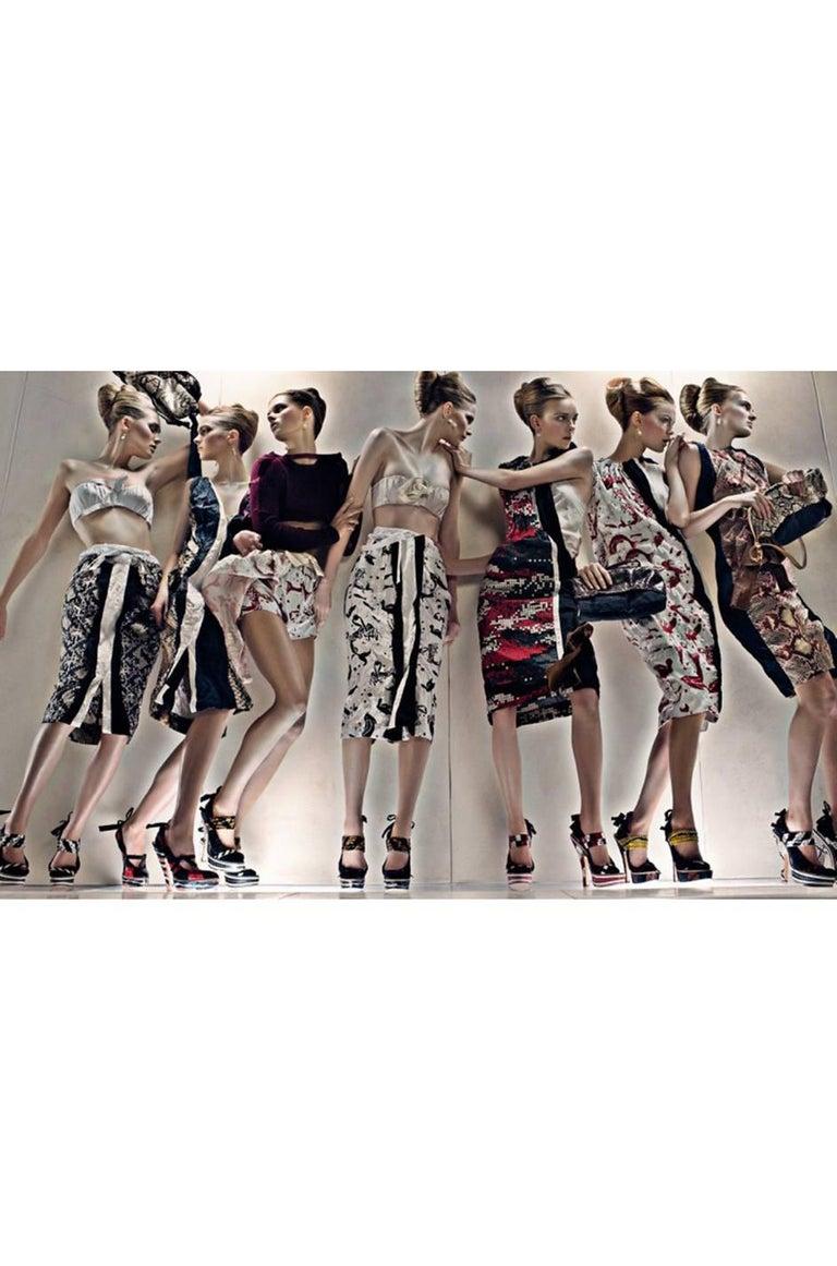 S/S 2009 Prada Runway Snakeskin Print Open Side Dress 10