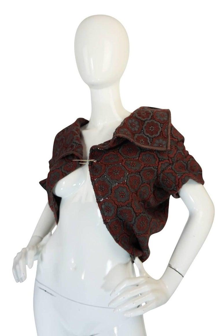Black Comme des Garcons Knit Shawl Poncho Jacket, 1990s  For Sale