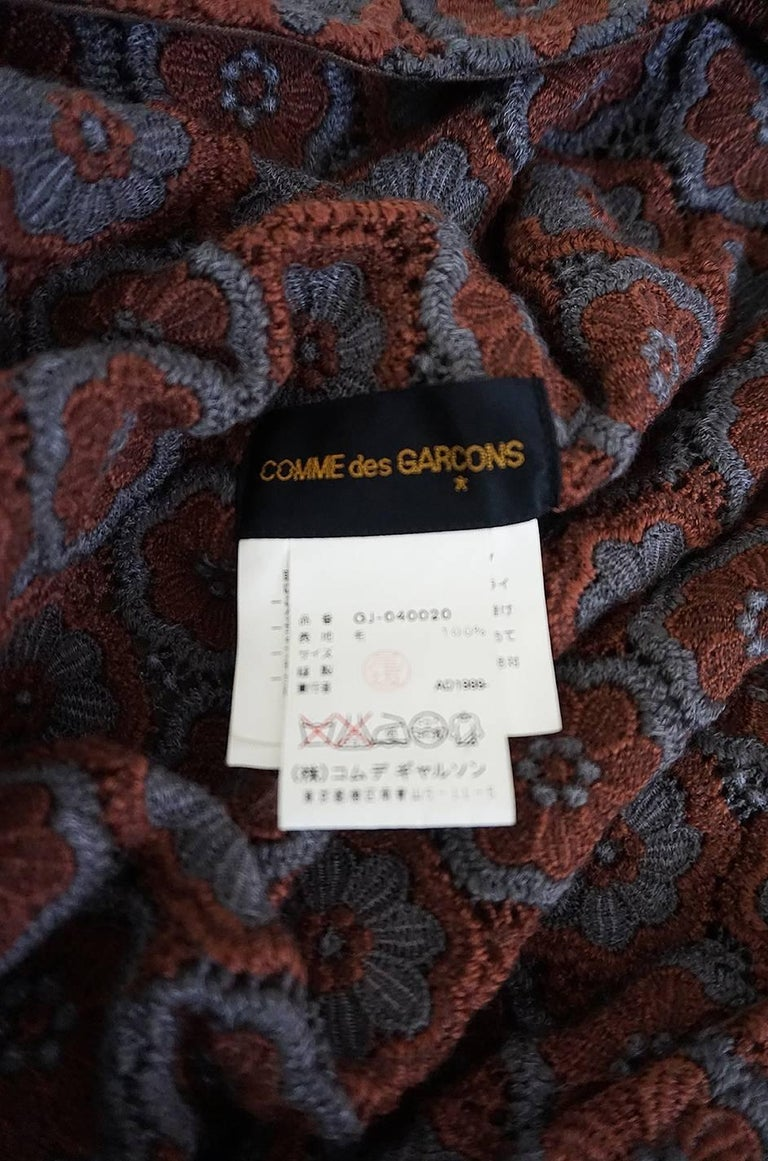 Comme des Garcons Knit Shawl Poncho Jacket, 1990s  For Sale 1