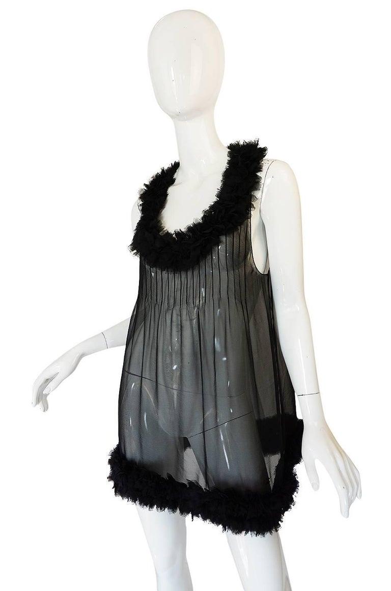 Women's Chanel Runway Semi-Sheer Silk Baby Doll Dress, F/W 2006  For Sale